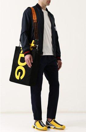 Мужские текстильные кроссовки sorrento DOLCE & GABBANA желтого цвета, арт. CS1595/AH677 | Фото 2