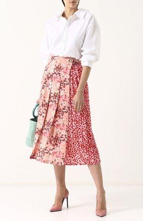 Женская шелковая юбка-миди с цветочным принтом MOTHER OF PEARL розового цвета, арт. 4313 B KENZIE | Фото 2