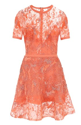 Приталенное мини-платье с вышивкой | Фото №1