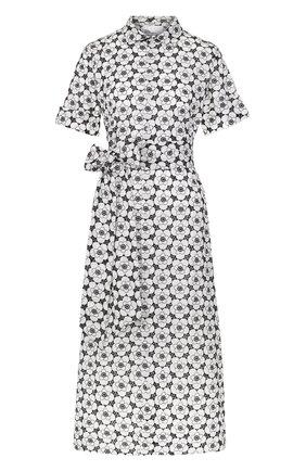 Хлопковое платье-рубашка с поясом | Фото №1