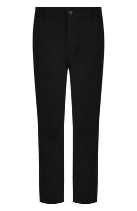 Укороченные хлопковые брюки прямого кроя | Фото №1