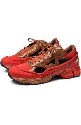 Комбинированные кроссовки Replicant Ozweego adidas by Raf Simons красные | Фото №1