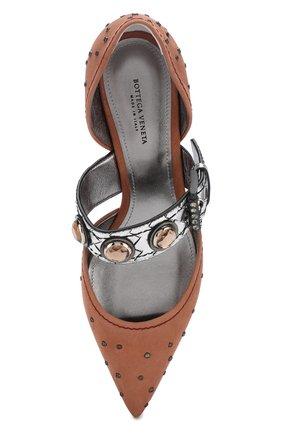 Замшевые туфли с заклепками на каблуке kitten heel | Фото №5