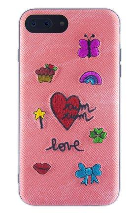 Мужской чехол для iphone 7 plus/8 plus с вышивкой BENJAMINS кораллового цвета, арт. ST8P-EMBTUMTUM | Фото 1
