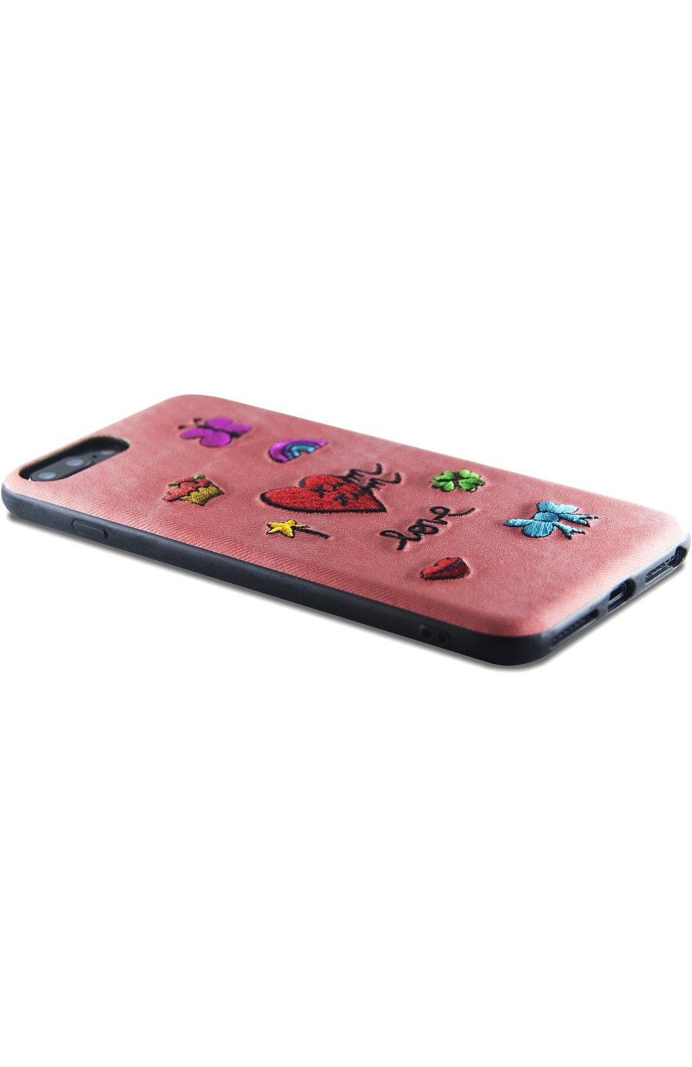 Мужской чехол для iphone 7 plus/8 plus с вышивкой BENJAMINS кораллового цвета, арт. ST8P-EMBTUMTUM | Фото 2