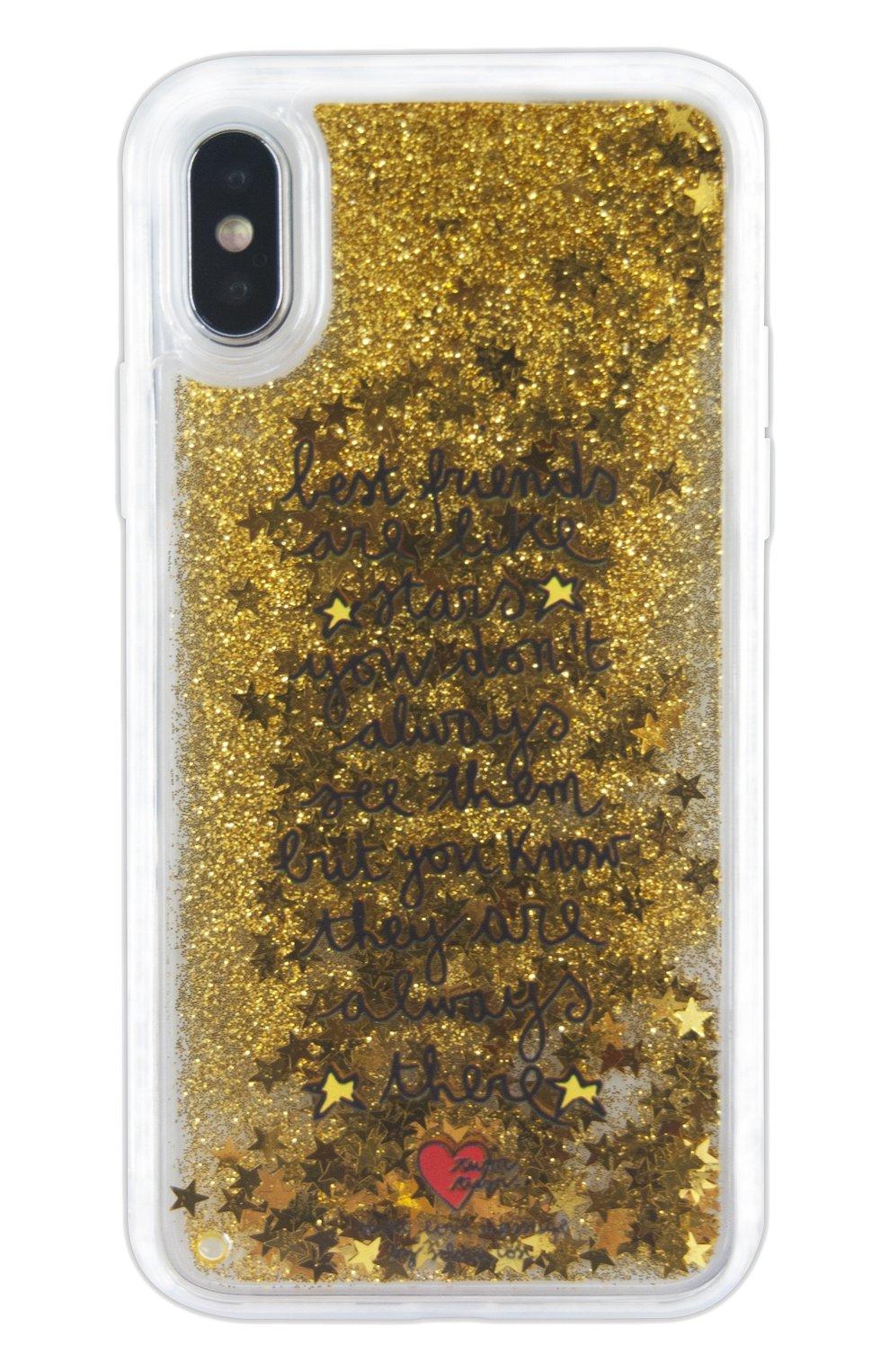 Мужской чехол для iphone x с глиттером BENJAMINS разноцветного цвета, арт. STX-TRSTARS | Фото 1