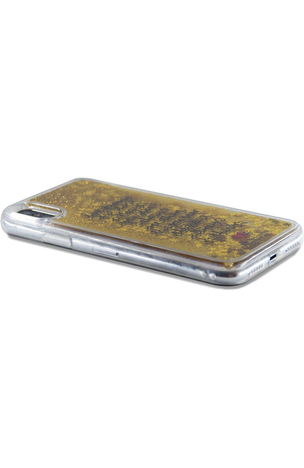 Мужской чехол для iphone x с глиттером BENJAMINS разноцветного цвета, арт. STX-TRSTARS | Фото 2