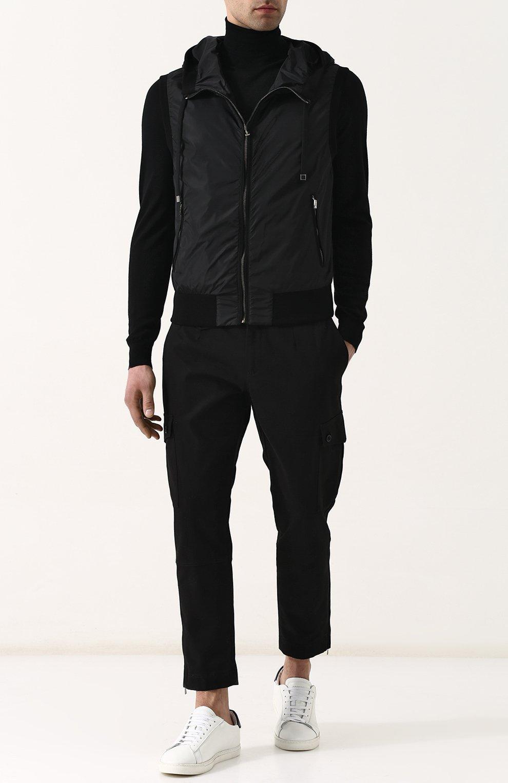 Мужской жилет на молнии с капюшоном DOLCE & GABBANA черного цвета, арт. G9KU0T/FUMQG   Фото 2