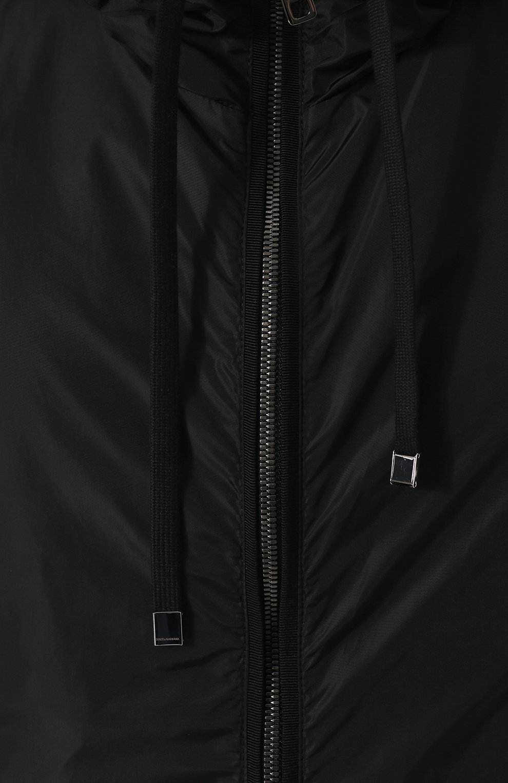 Мужской жилет на молнии с капюшоном DOLCE & GABBANA черного цвета, арт. G9KU0T/FUMQG   Фото 5