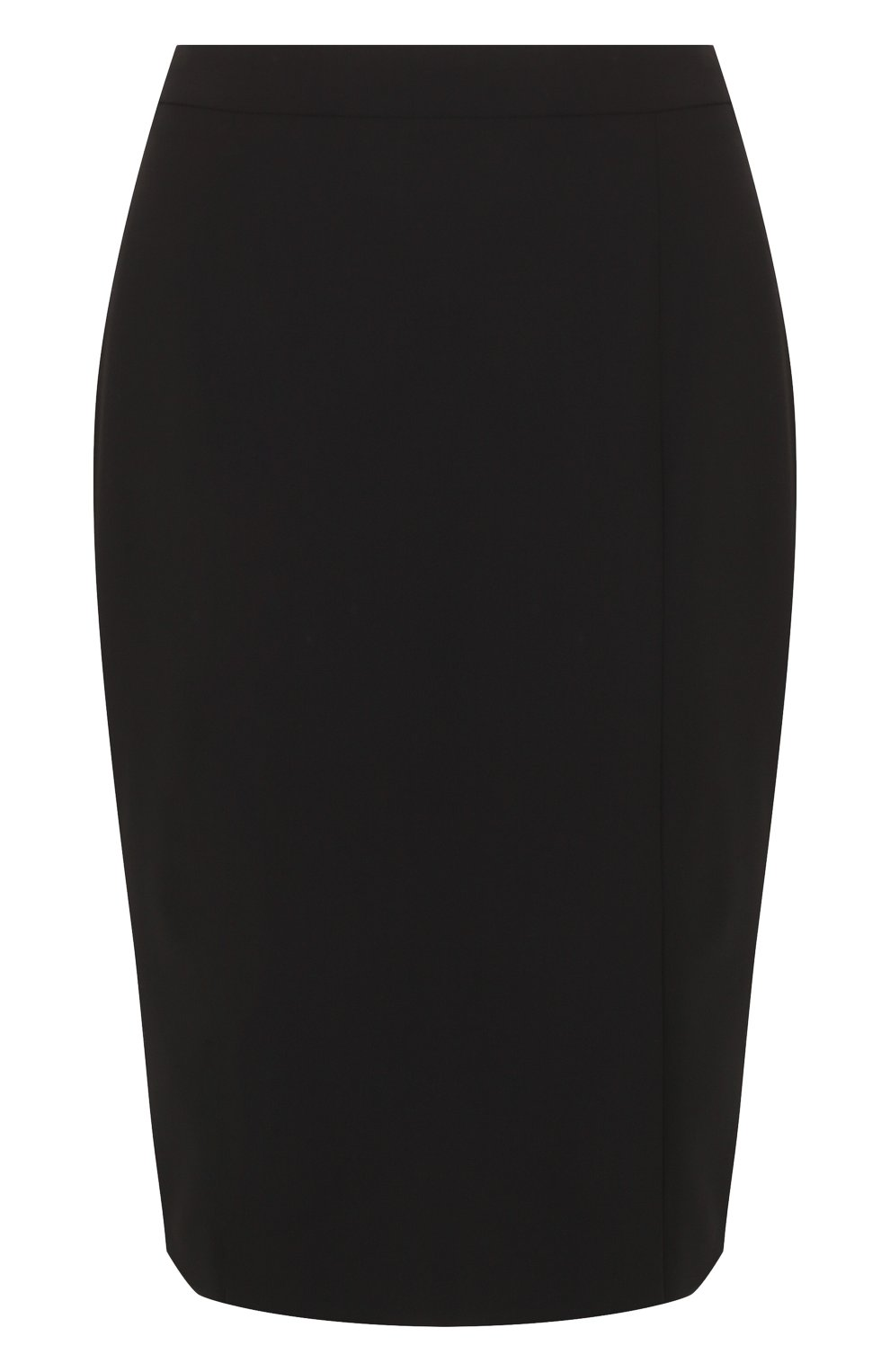 Женская однотонная шерстяная юбка-карандаш BOSS черного цвета, арт. 50385075   Фото 1