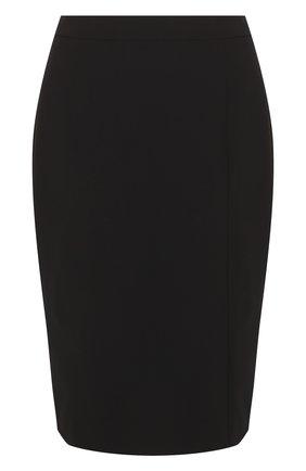 Однотонная шерстяная юбка-карандаш | Фото №1