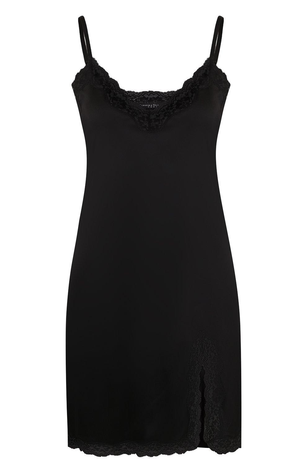 Шелковая сорочка с кружевной отделкой   Фото №1