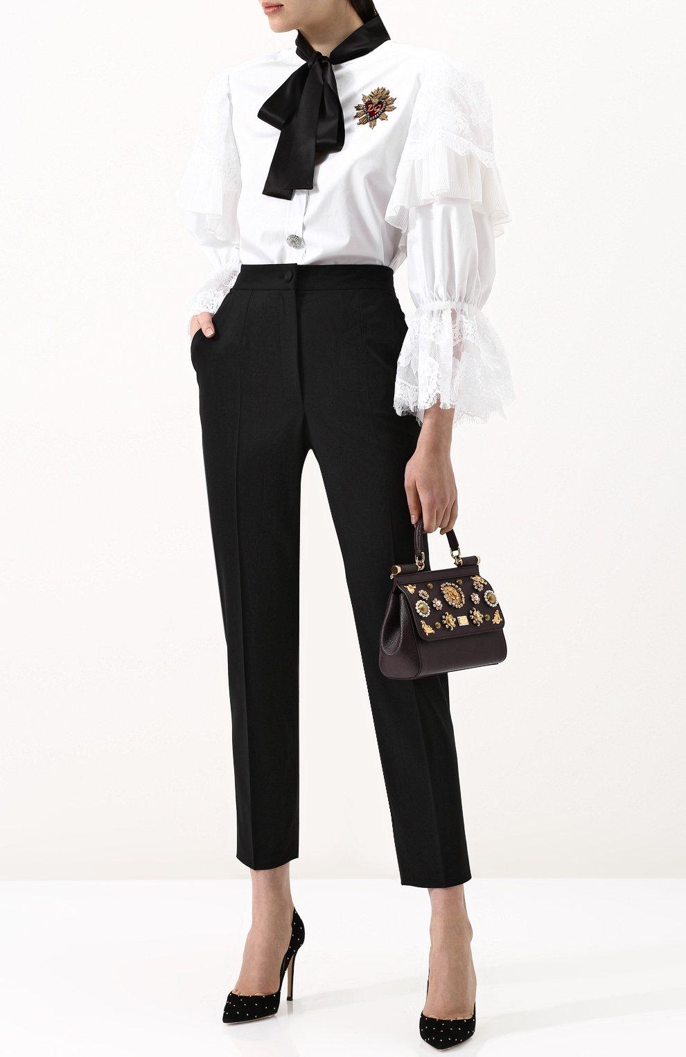 Женская сумка sicily small с аппликациями DOLCE & GABBANA бордового цвета, арт. BB6003/B5230 | Фото 2
