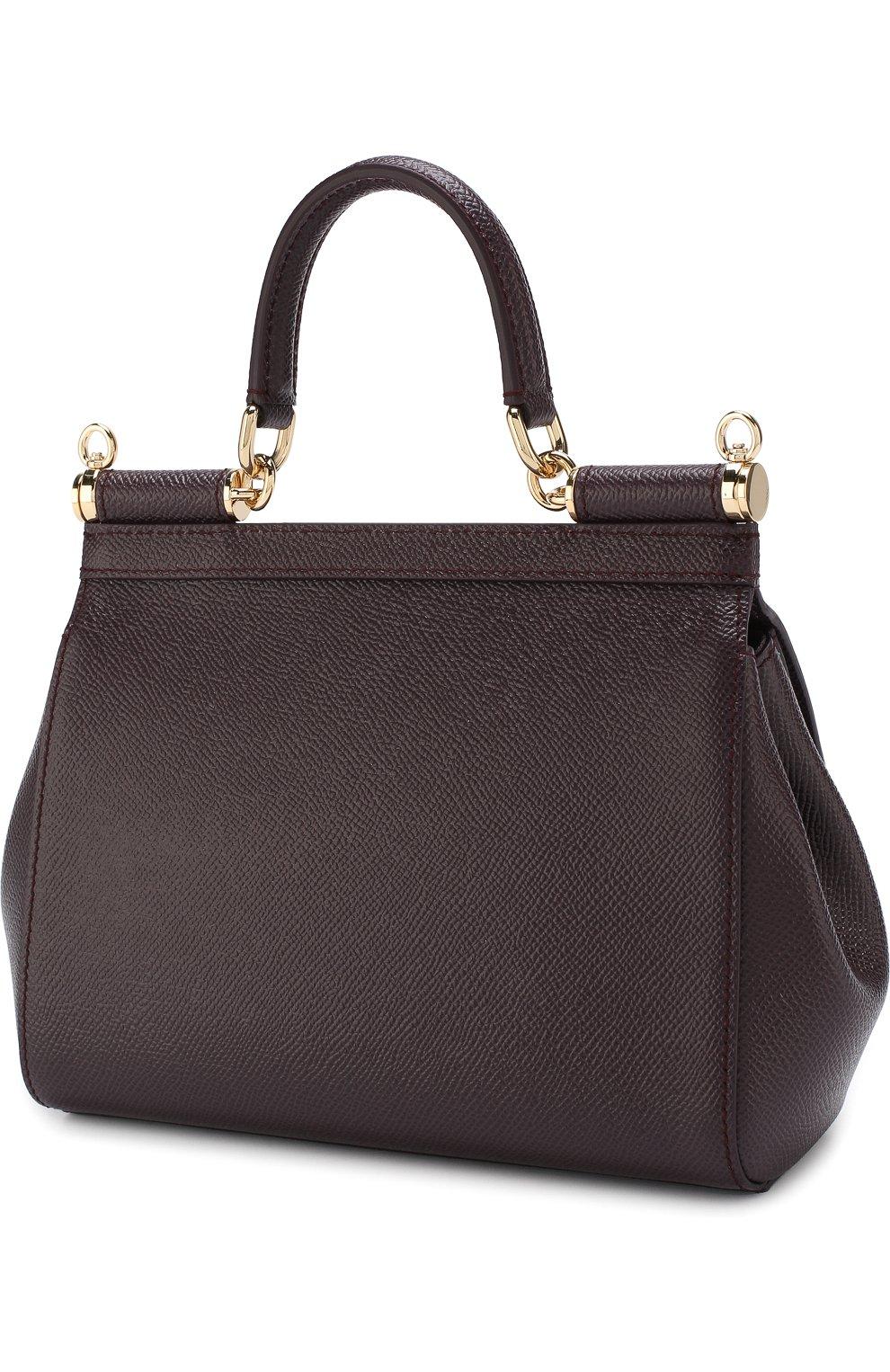 Женская сумка sicily small с аппликациями DOLCE & GABBANA бордового цвета, арт. BB6003/B5230 | Фото 3
