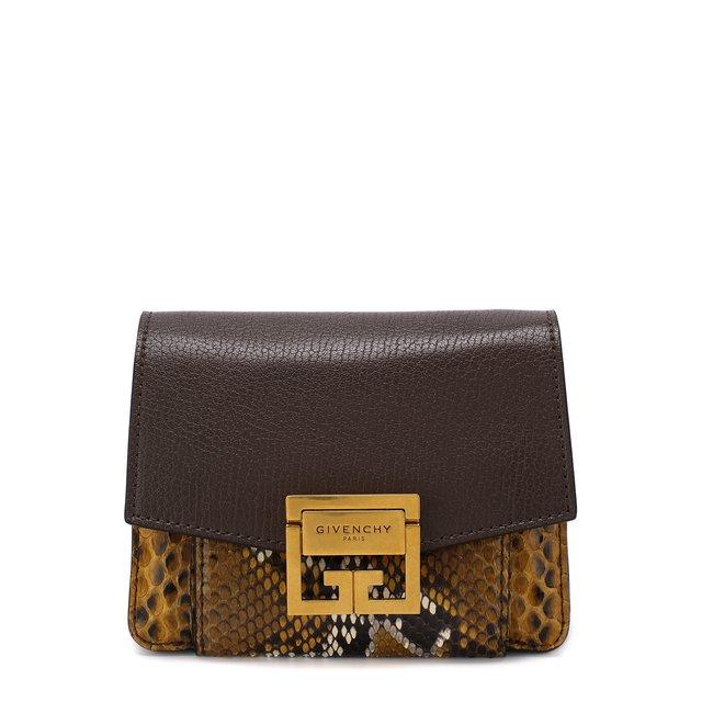 Сумка GV3 из кожи питона Givenchy