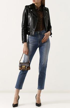 Женская сумка gv3 из кожи питона GIVENCHY коричневого цвета, арт. BB501BB03P | Фото 2
