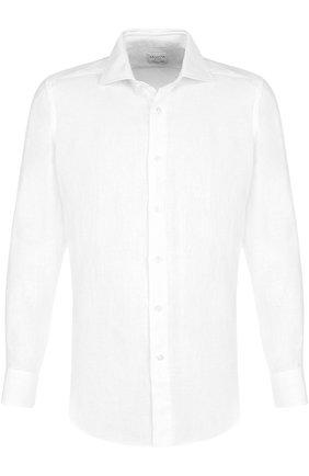 Льняная сорочка с воротником кент | Фото №1