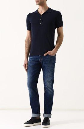 Джинсы прямого кроя Jacob Cohen синие | Фото №1