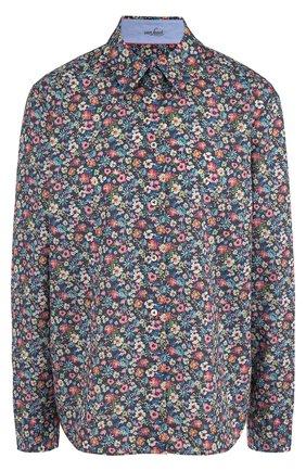 Женская хлопковая блуза свободного кроя с принтом Van Laack, цвет разноцветный, арт. MAE-FPA_170168_SS18 в ЦУМ | Фото №1