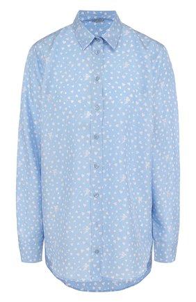 Женская шелковая блуза свободного кроя с принтом Van Laack, цвет серый, арт. LEONIE_170085_SS18 в ЦУМ | Фото №1