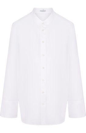 Женская однотонная шелковая блуза свободного кроя Van Laack, цвет белый, арт. BETTY_160049_SS18 в ЦУМ | Фото №1