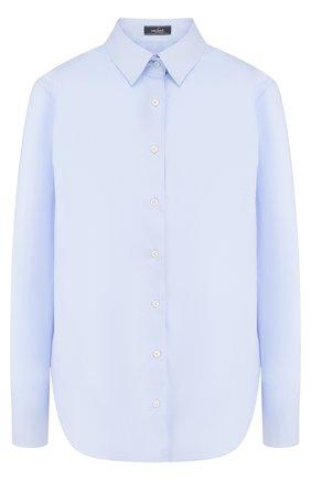 Женская однотонная приталенная блуза из хлопка Van Laack, цвет белый, арт. BL-FRIDA_130050_SS18 в ЦУМ | Фото №1