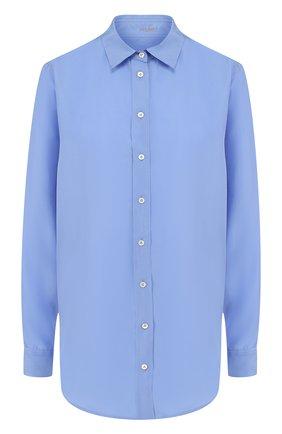 Женская однотонная шелковая блуза свободного кроя Van Laack, цвет голубой, арт. LEONIE_160941_SS18 в ЦУМ | Фото №1