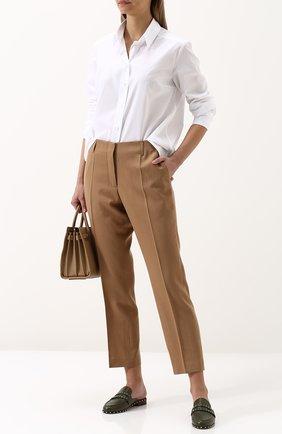 Женская однотонная шелковая блуза свободного кроя Van Laack, цвет белый, арт. MAE-Q_160049_SS18 в ЦУМ | Фото №1