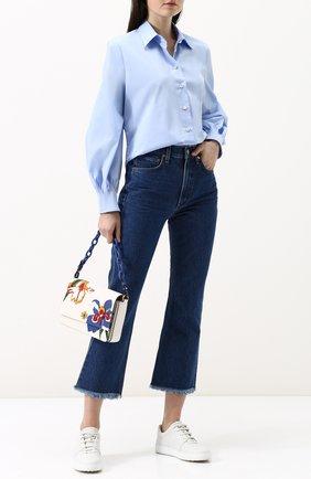 Женская однотонная шелковая блуза свободного кроя Van Laack, цвет белый, арт. MARLA_160920_SS18 в ЦУМ | Фото №1