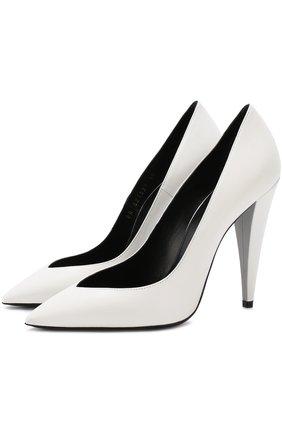 Кожаные туфли Era на фигурном каблуке