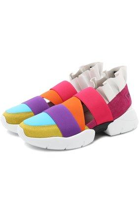 Комбинированные кроссовки с оборками | Фото №1