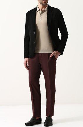 Мужские кожаные лоферы с плетением intrecciato BOTTEGA VENETA черного цвета, арт. 417021/VBG71 | Фото 2
