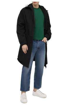 Мужская хлопковая футболка с круглым вырезом DOLCE & GABBANA зеленого цвета, арт. G8GX8T/FU7EQ   Фото 2 (Рукава: Короткие; Материал внешний: Хлопок; Длина (для топов): Стандартные; Принт: Без принта; Стили: Кэжуэл)