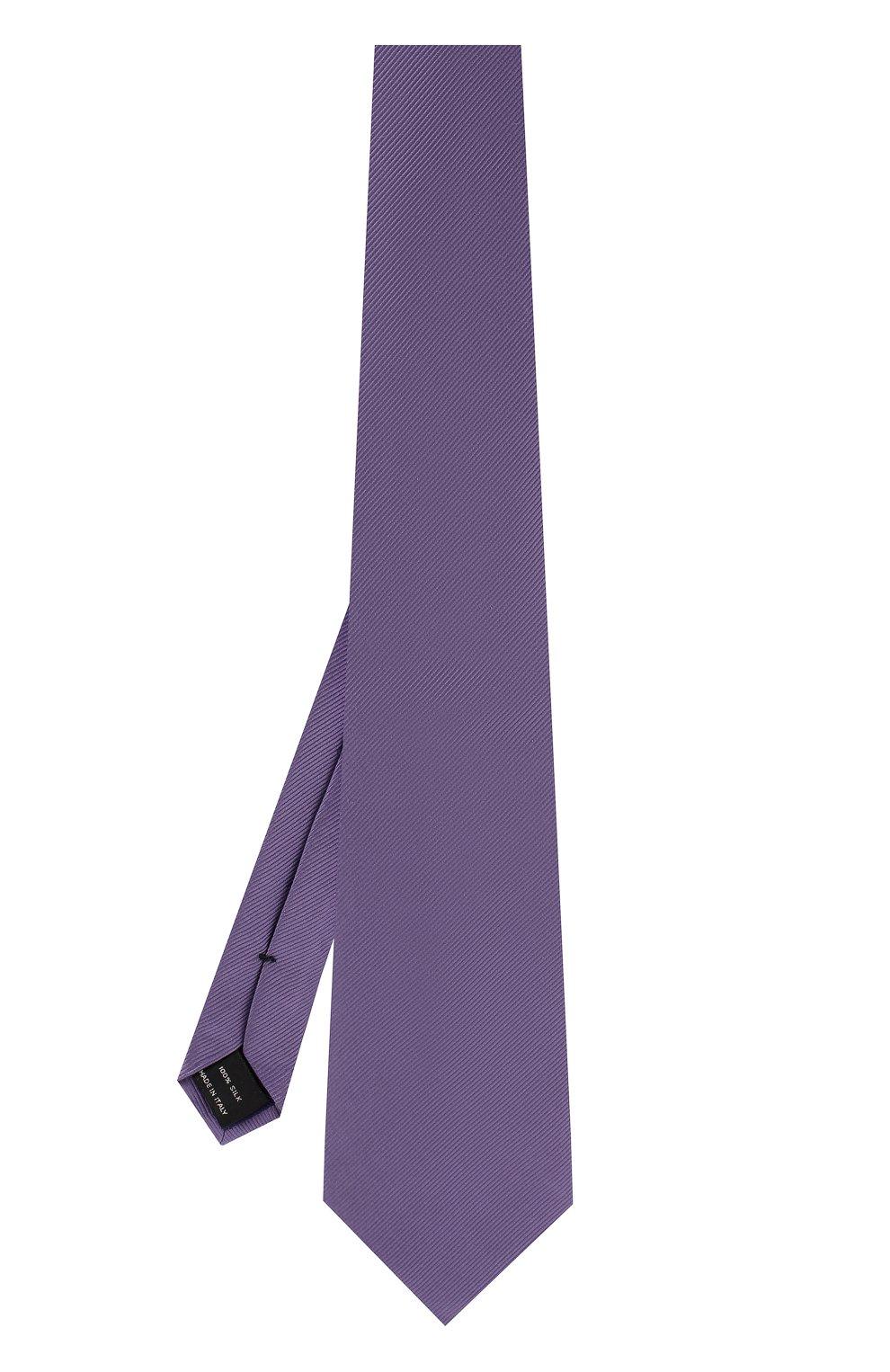 Мужской шелковый галстук TOM FORD сиреневого цвета, арт. 3TF08/XTF   Фото 2