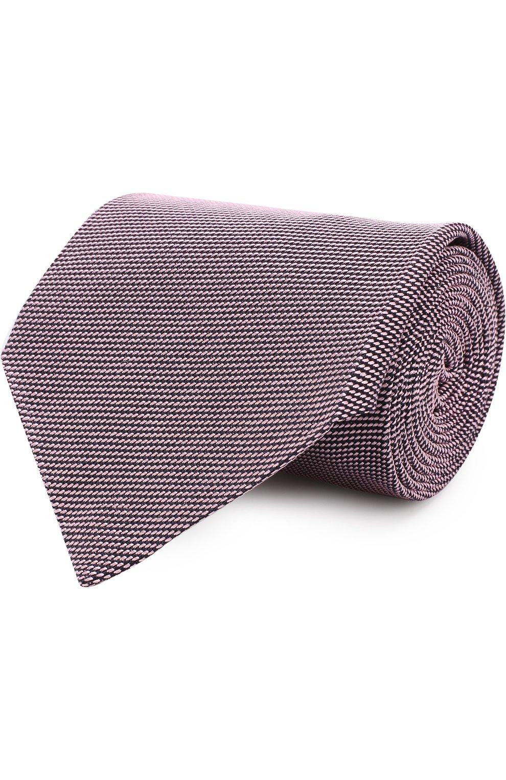 Мужской шелковый галстук TOM FORD розового цвета, арт. 3TF60/XTF | Фото 1