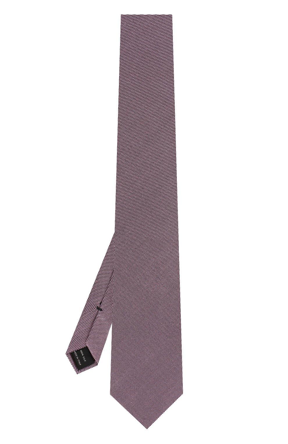 Мужской шелковый галстук TOM FORD розового цвета, арт. 3TF60/XTF | Фото 2