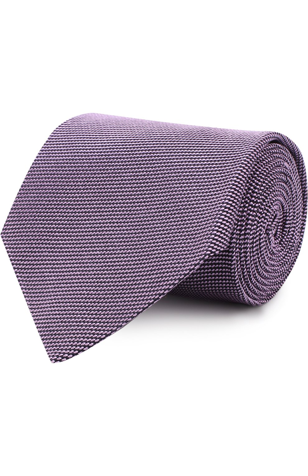 Мужской шелковый галстук TOM FORD сиреневого цвета, арт. 3TF60/XTF | Фото 1