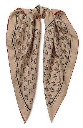 Женский шелковый платок с принтом GUCCI бежевого цвета, арт. 513126/3G001 | Фото 1
