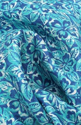 Мужской шелковый платок с принтом KITON бирюзового цвета, арт. UP0CH/7P76 | Фото 2