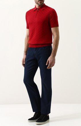 Мужские джинсы прямого кроя ZILLI темно-синего цвета, арт. MCP-00232-DEUL1/R002 | Фото 2