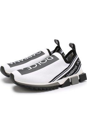 Мужские текстильные кроссовки sorrento DOLCE & GABBANA белого цвета, арт. CS1595/AH677 | Фото 1