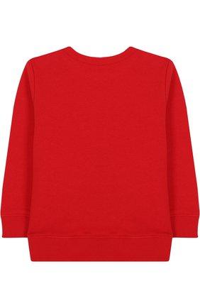 Детский хлопковый свитшот с логотипом бренда GUCCI красного цвета, арт. 497819/X9P52 | Фото 2