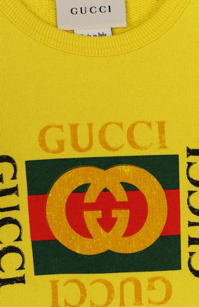 Хлопковый свитшот с логотипом бренда | Фото №3