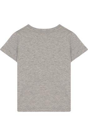 Детский хлопковая футболка с логотипом бренда GUCCI серого цвета, арт. 497845/X3L91 | Фото 2