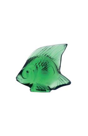 Мужского фигурка fish LALIQUE зеленого цвета, арт. 3001000 | Фото 1
