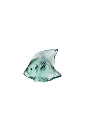 Мужского фигурка fish LALIQUE зеленого цвета, арт. 3001900 | Фото 1