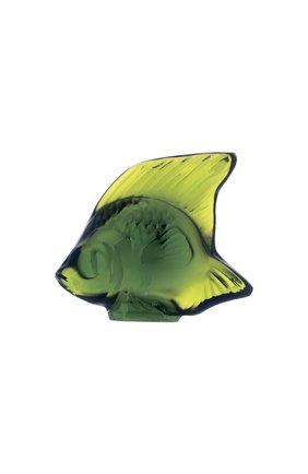 Мужского фигурка fish LALIQUE зеленого цвета, арт. 3000900 | Фото 1