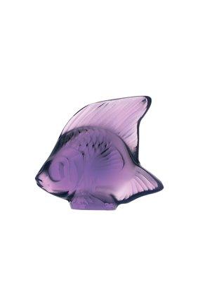 Мужского фигурка fish LALIQUE фиолетового цвета, арт. 3000600 | Фото 1