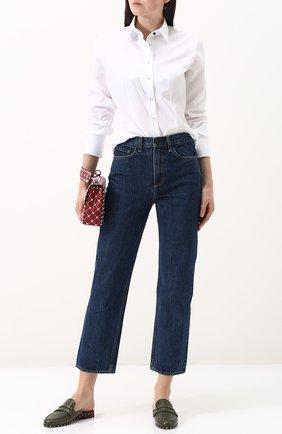 Женская однотонная приталенная блуза из хлопка Van Laack, цвет белый, арт. BL-FRIDA-PA_160448_SS18 в ЦУМ | Фото №1