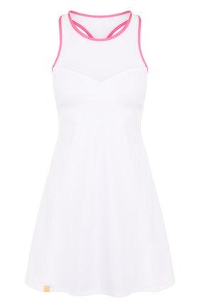 Приталенное мини-платье с круглым вырезом | Фото №1